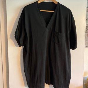 Other - Men's Black Casual V-neck Short Sleeve Shirt